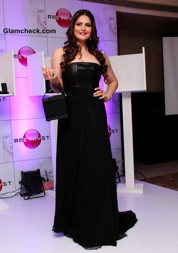 Zareen Khan Launches Amethyst in India 2014