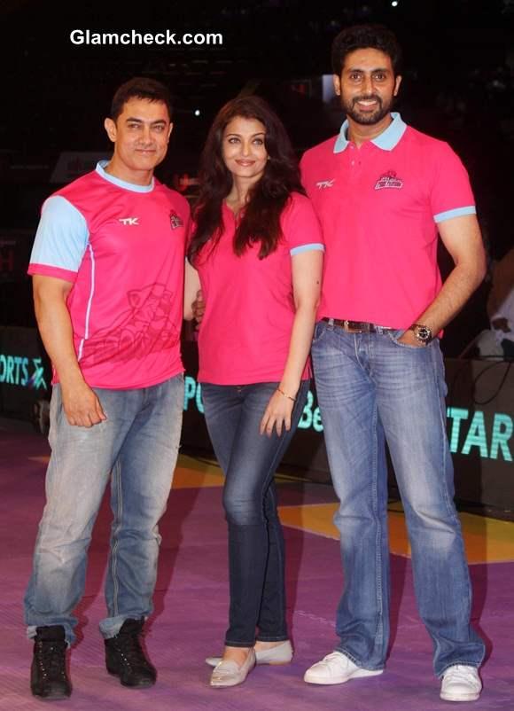 Aamir Khan Aishwarya Rai and Abhishek Bachchan
