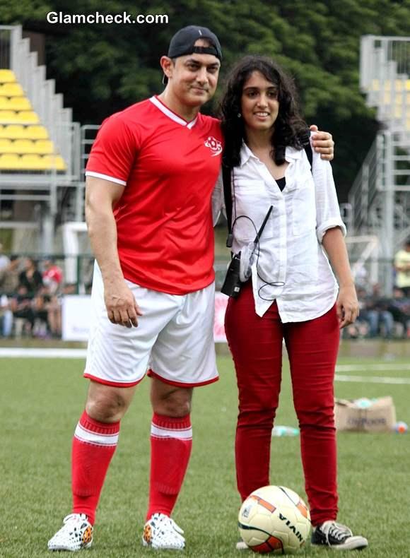 Aamir Khan with his daughter Ira Khan