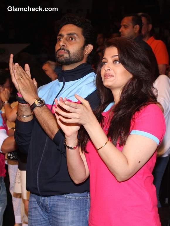 Aishwarya Rai with Abhishek Bachchan 2014
