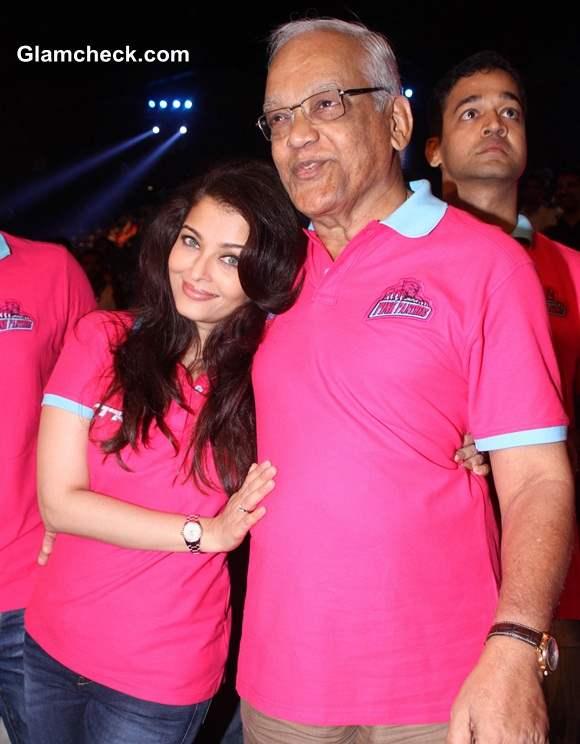 Aishwarya Rai with her father Krishnaraj
