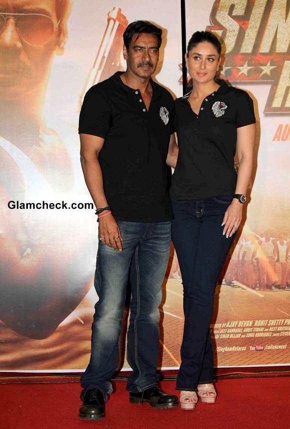Ajay Devgan Kareena Kapoor Launch Singham Returns Trailer