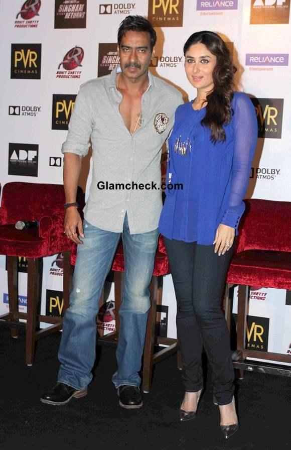 Ajay Devgan and Kareena Kapoor 2014