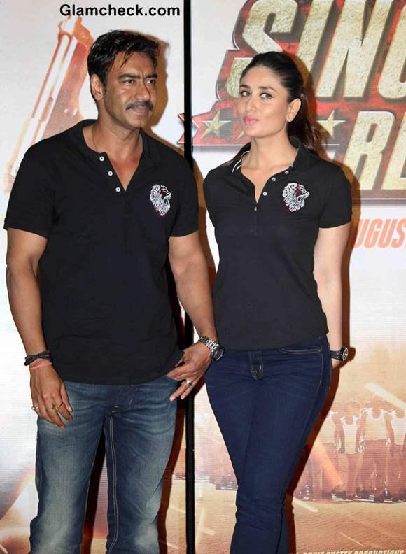 Ajay Devgan and Kareena Kapoor in Singham Returns