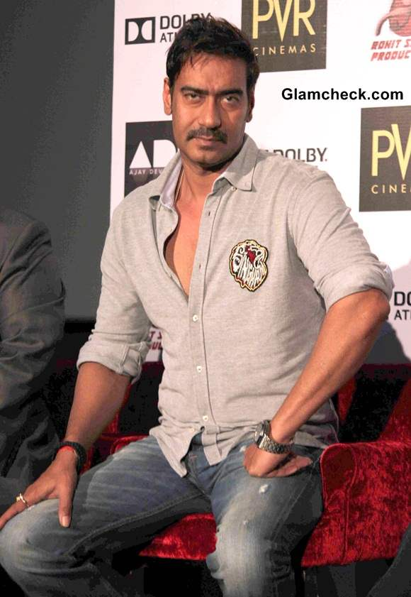 kareena kapoor and ajay devgan launch singham return�s