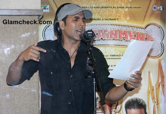 Akshay Kumar Records Song for Entertainment movie
