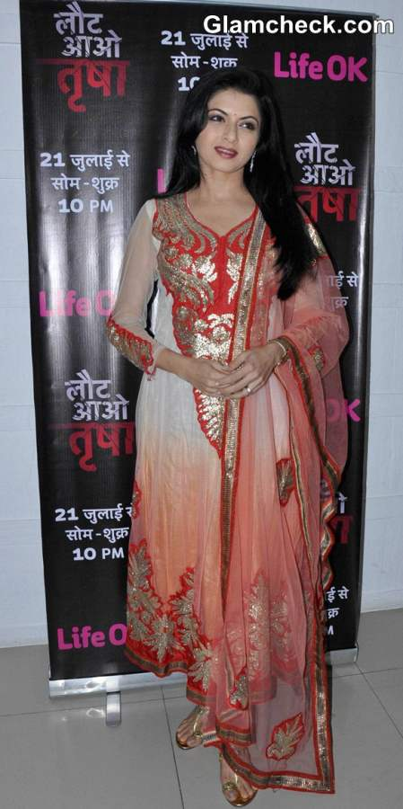 Bhagyashree Promotes TV Show Laut Aao Trisha