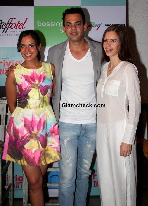 Cast- Richa Cyrus and Kalki at the Press conference of the theatre play- Trivial Disasters