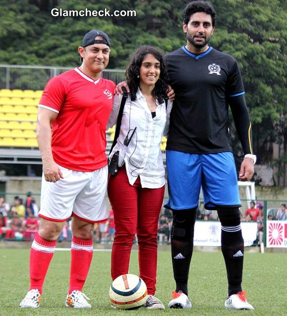 Celebrity Football Match Organized by Iran Khan