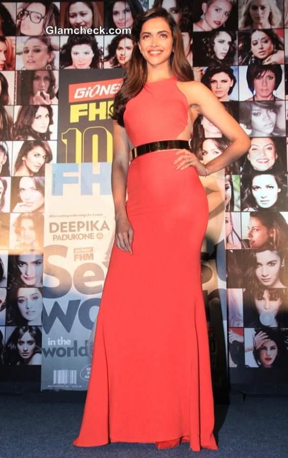 Deepika Padukone in Stella McCartney Dress at FHM Magazine Event