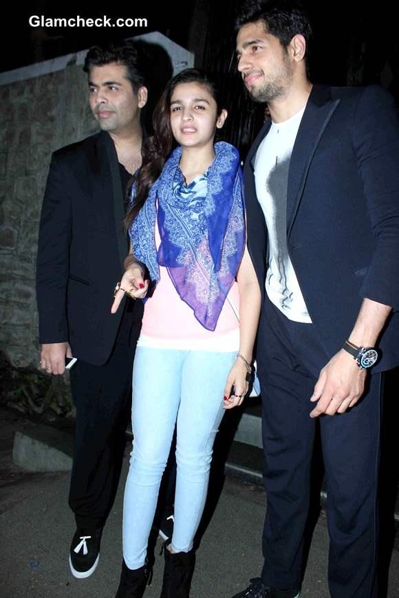 Dinner with Karan - Film-maker Treats Alia Bhatt and Siddharth Malhotra