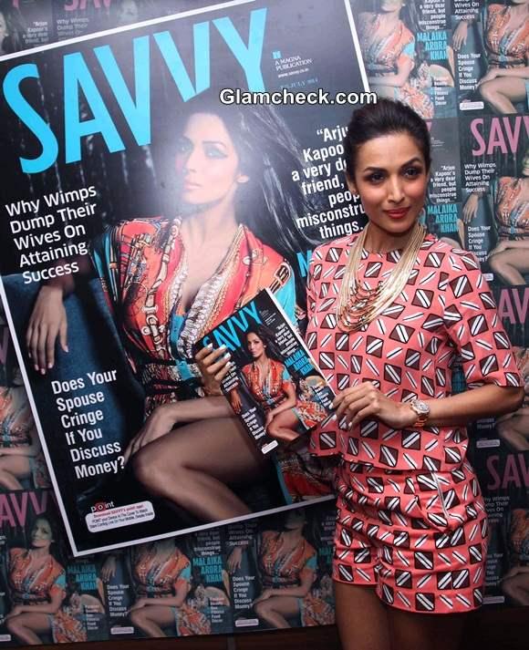 Malaika Arora Khan Unveils Savvy Cover 2014 in Zara Separates