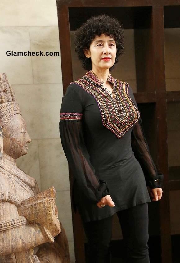 Manisha Koirala Sporting an All Black Look