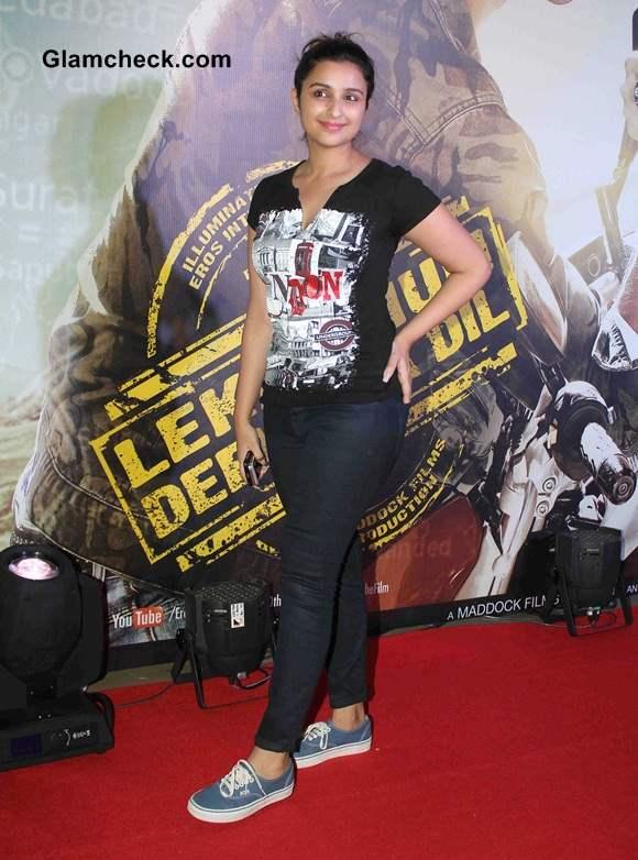 Parineeti Chopra 2014 at Lekar Hum Deewana Dil Premiere