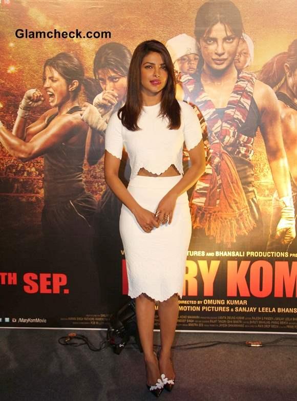 Priyanka Chopra in Alexander McQueen at Mary Kom Trailer Launch