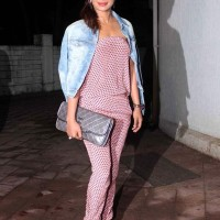 Priyanka Chopra in Turquoise and Gold Jumpsuit on her Birthday