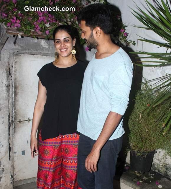 Riteish Deshmukh with pregnant wife Genelia DSouza