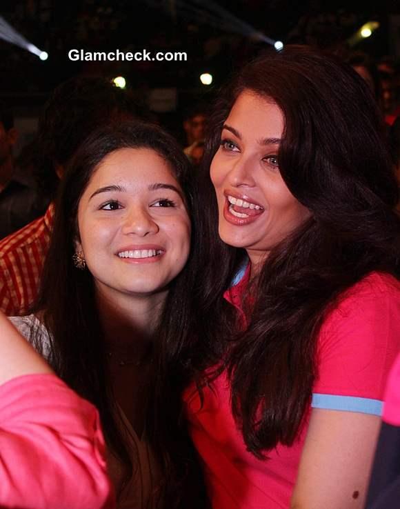 Sachin Tendulkars daughter Sara and actor Aishwarya Rai