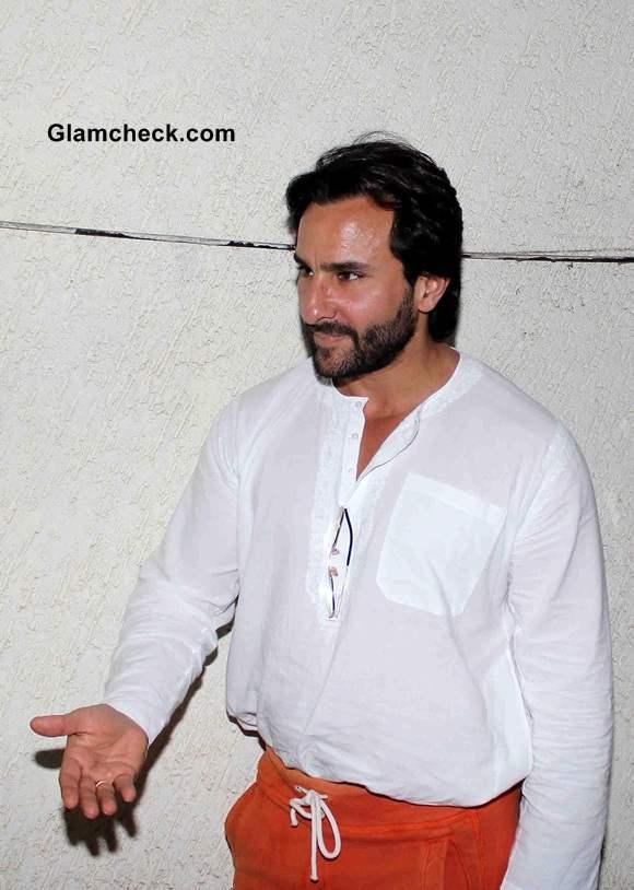 Saif Ali Khan Catches Screening of Lekar Hum Deewana Dil