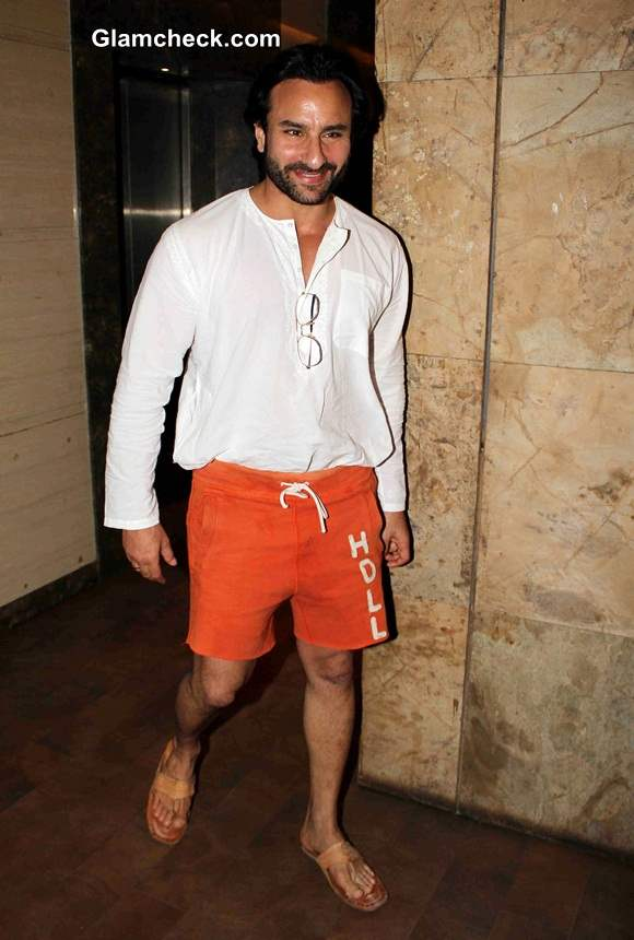 Saif Ali Khan in Shorts 2014