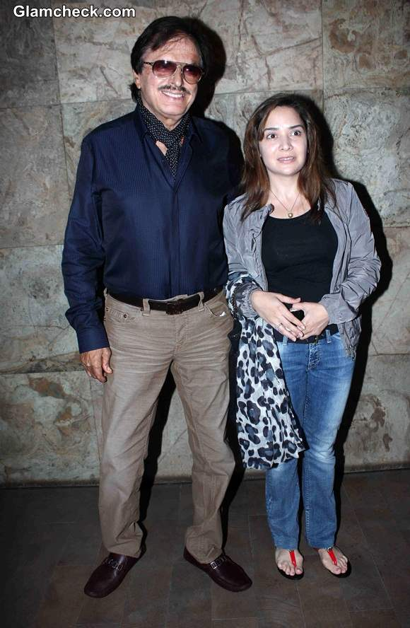 Sanjay Khan with his daughter in law Malaika Parekh