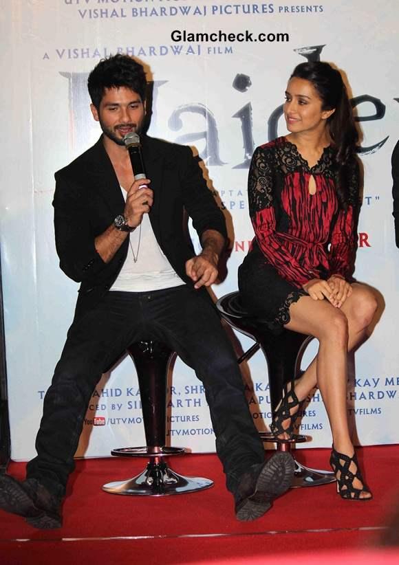 Shahid Kapoor and Shraddha Kapoor Launch Haider Trailer