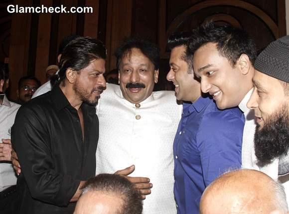 Shahrukh and Salman Khan Meet Up at Iftar Party 2014