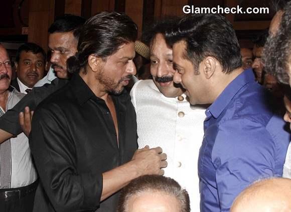 Shahrukh and Salman Meet Up at Iftar Party 2014