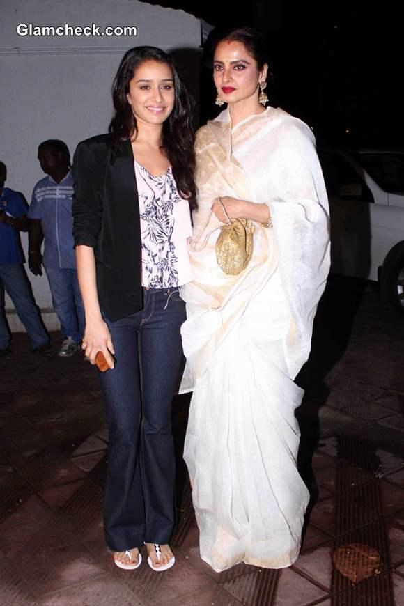 Shraddha Kapoor and Rekha at Priyanka Chopras Birthday Party