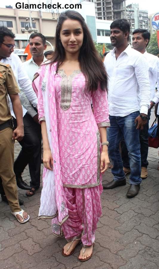 Shraddha Kapoor in Salwaar Kameez 2014