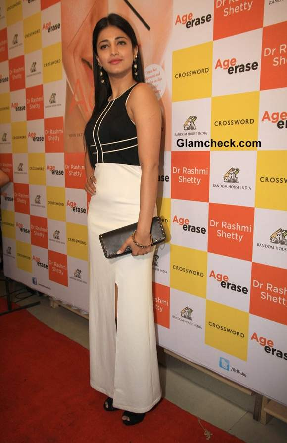 Shruti Haasan in Sonaakshi Raaj at Age Erase Book Launch
