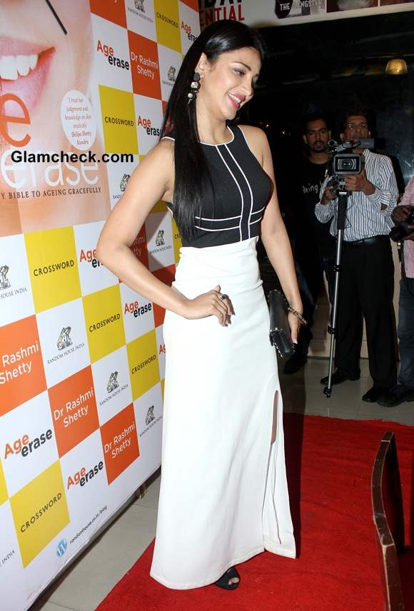 Shruti Haasan in Sonaakshi Raaj outfit at Age Erase Book Launch