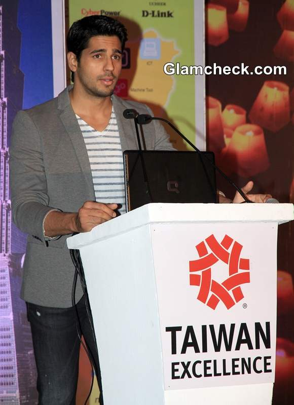 Siddharth Malhotra during Taiwan Excellence 2014 Campaign