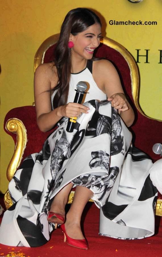Sonam Kapoor at Khoobsurat Trailer Launch
