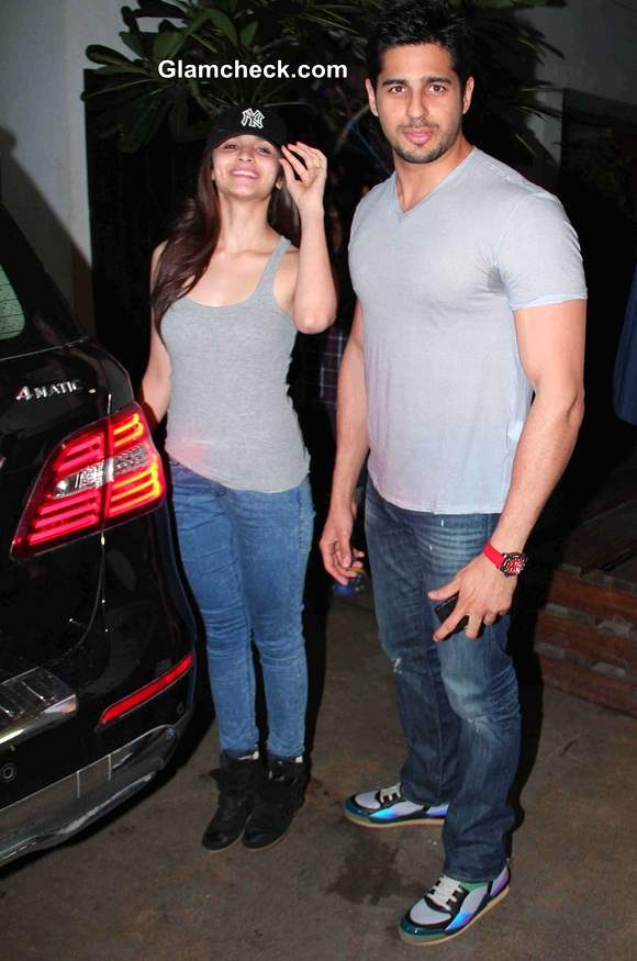 Spotted together - Alia Bhatt with Siddharth Malhotra at Hercules special screening