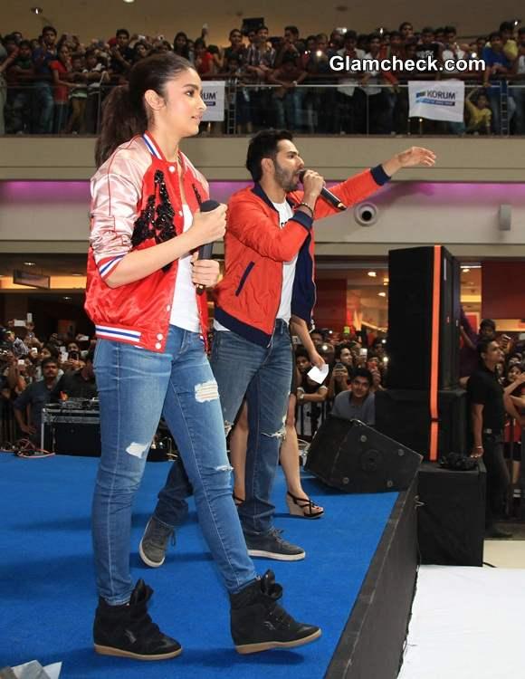 Varun and Alia go Matchy-matchy to Promote Humpty Sharma Ki Dulhania
