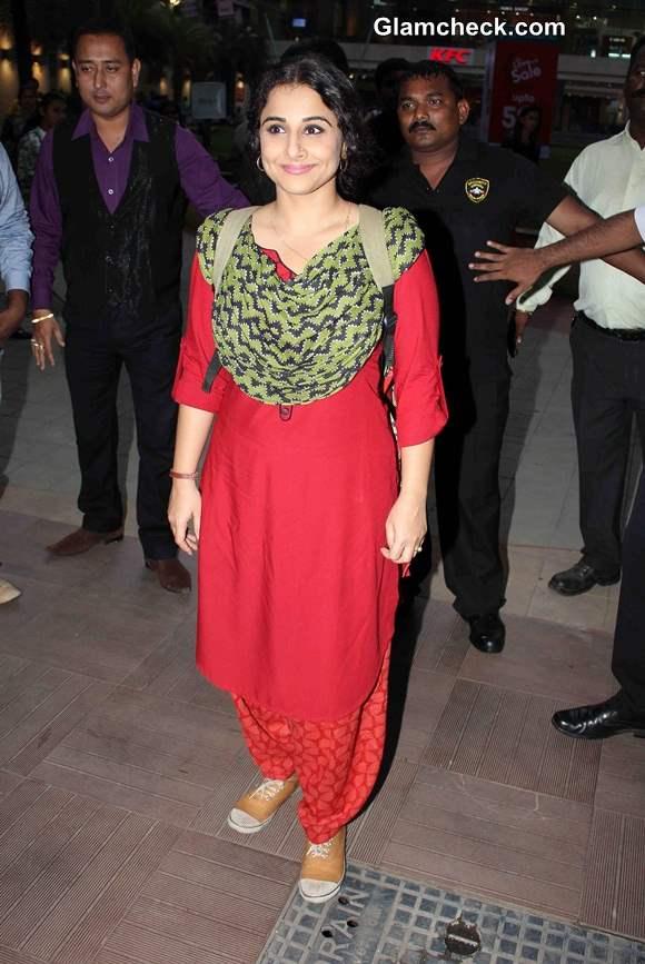 Vidya Balan in Salwar Kameez at Bobby Jasoos Promo