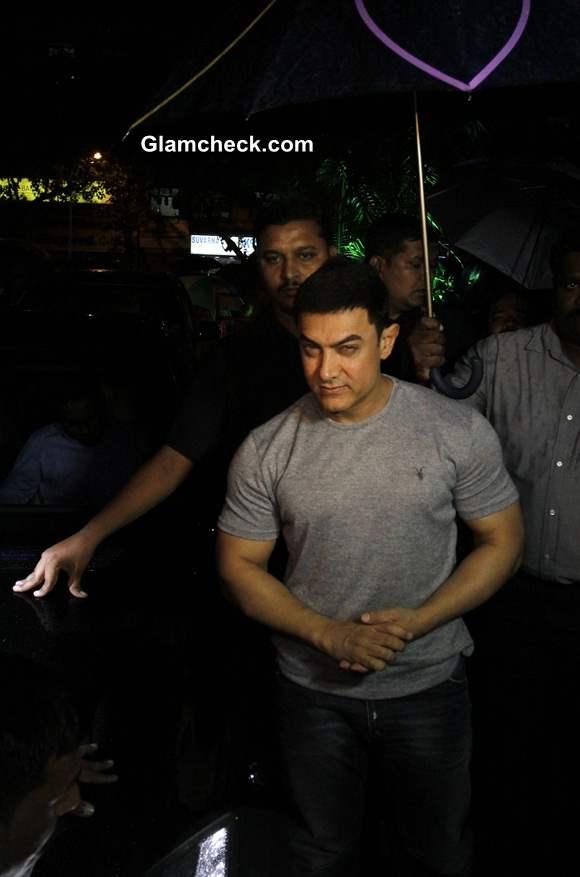 Aamir Khan at special screening of the Marathi film Saturday Sunday