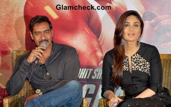 Ajay Devgan and Kareena Kapoor at Singham Returns Kolkatta Promo