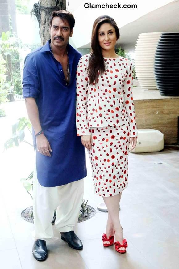 Ajay Devgan and Kareena Kapoor at Singham Returns New Delhi Promo