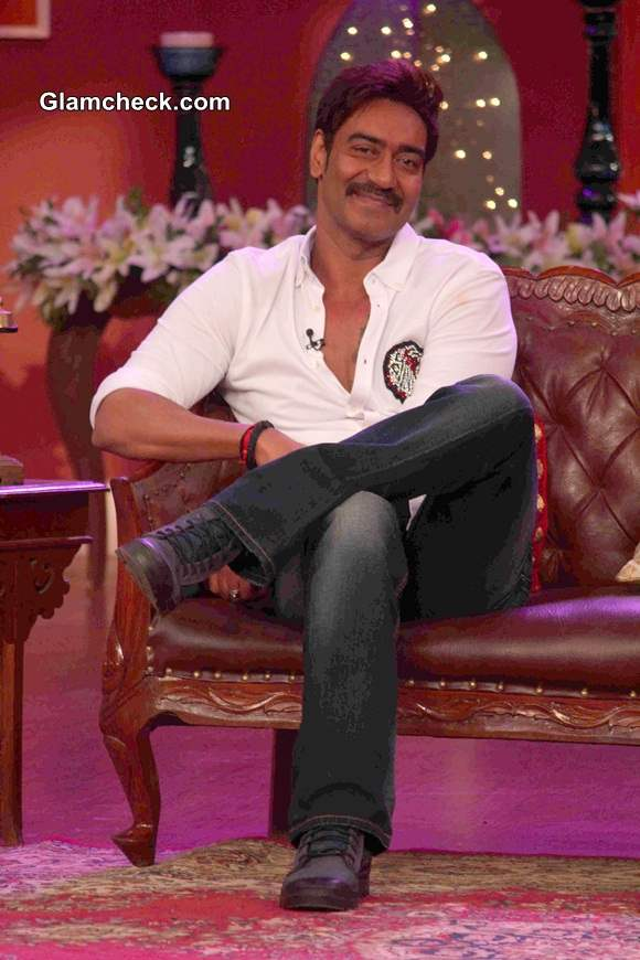 Ajay Devgan promoting his film Singham Returns