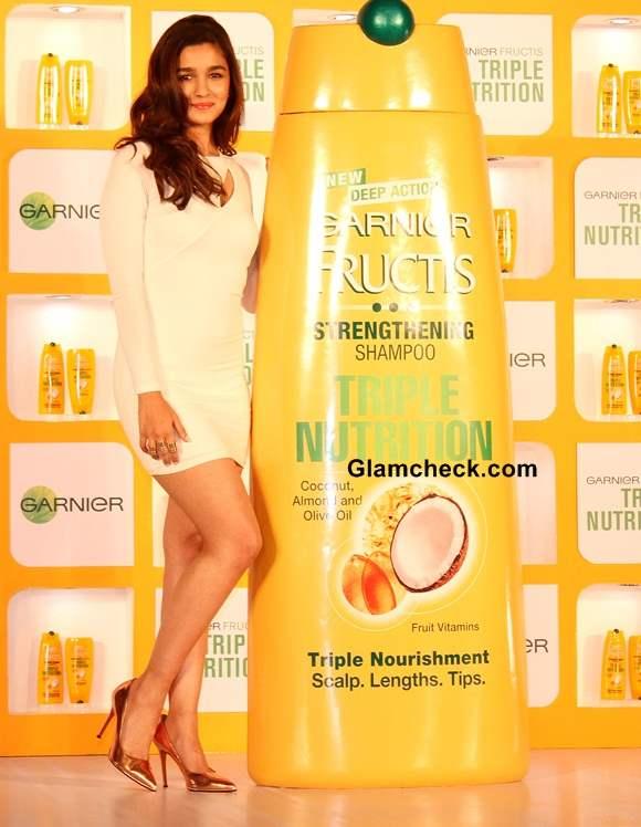 Alia Bhatt endorses Garnier Fructis