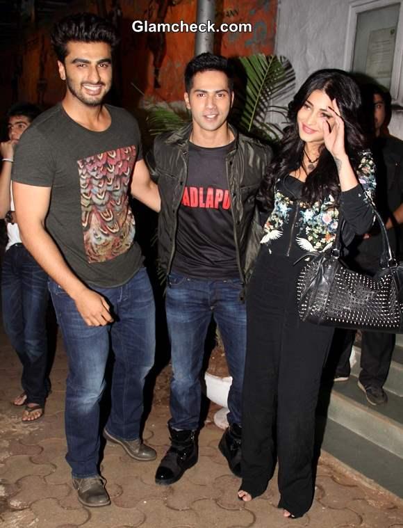 Arjun Kapoor Varun Dhawan and Shruti Hassan