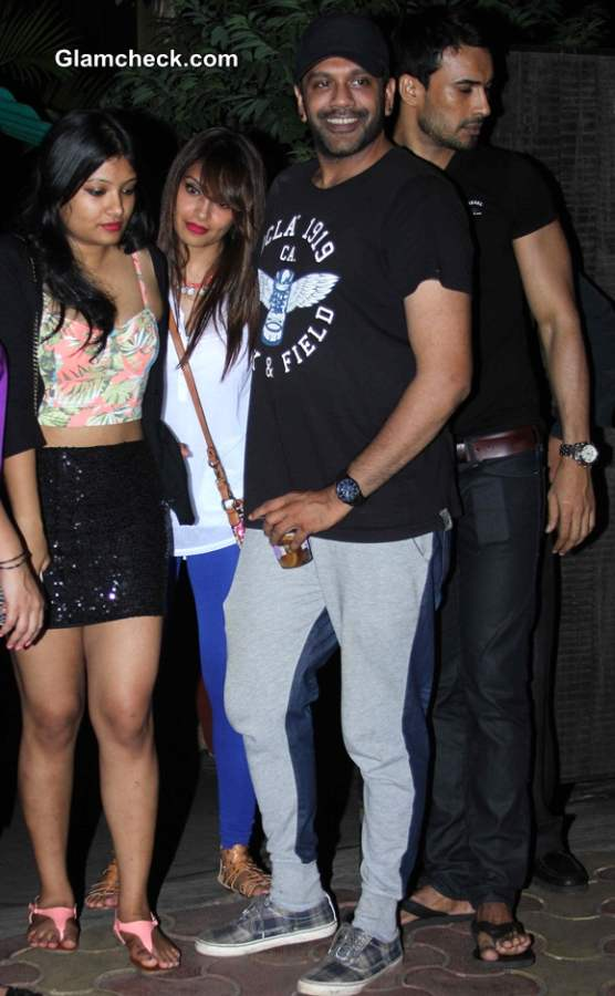 Bipasha Basu Spotted with Fashion Designer Rocky S