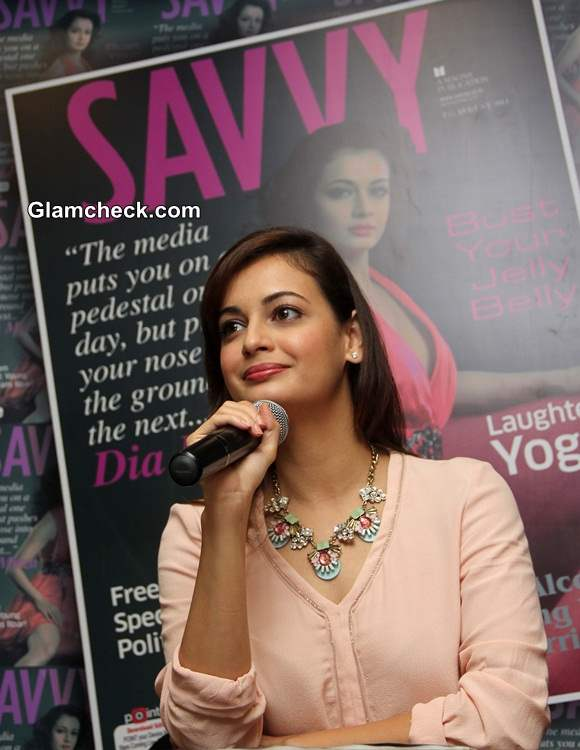 Dia Mirza 2014 latest issue of Savvy magazine