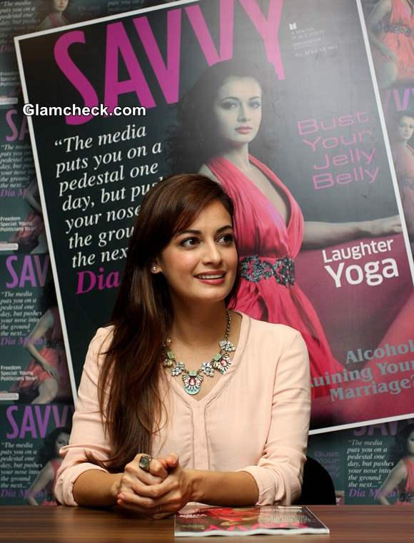 Dia Mirza unveiled the cover of the latest issue of Savvy magazine