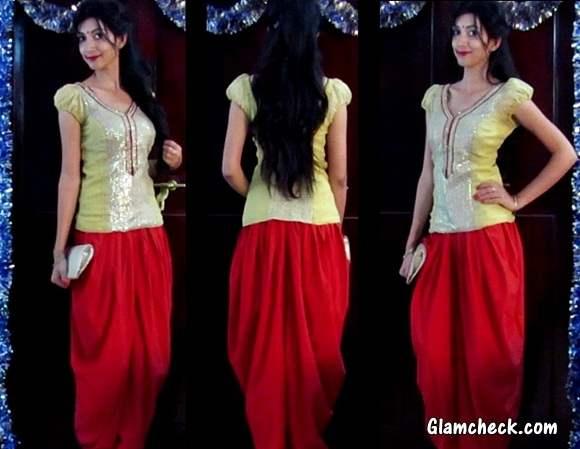 Glamorous Indo Western Look Indian Youtuber