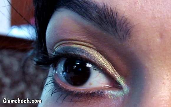 Golden Shimmery Eye Makeup - Indian Youtuber Sarita Upadhyay