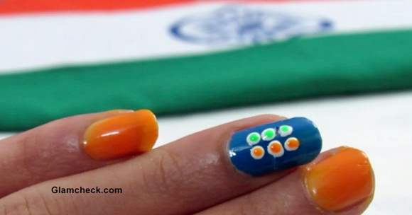 India Independence Day - Nail Art