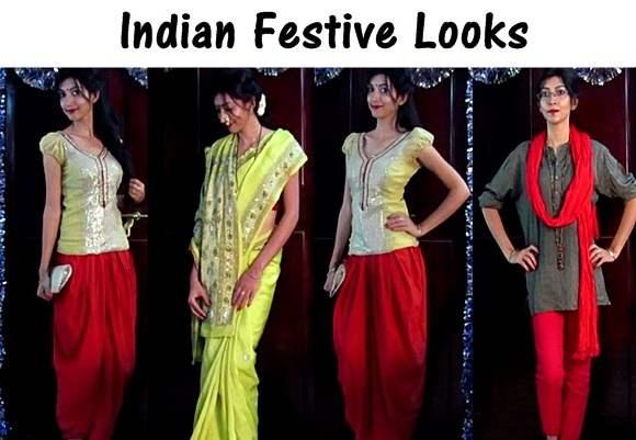 Indian Fashion Youtuber - Festive Looks by Sarita Upadhyay